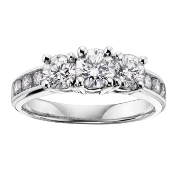 Diamond Ladies Three Stone Ring