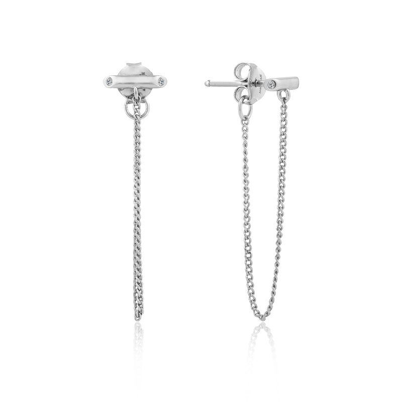 Ania Haie Shimmer Chain Stud Earrings