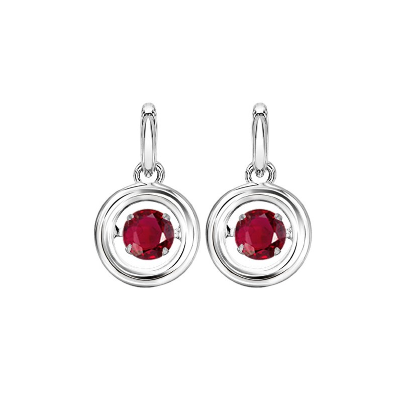 Rhythm of Love Silver Ruby Rhythm Of Love Earrings
