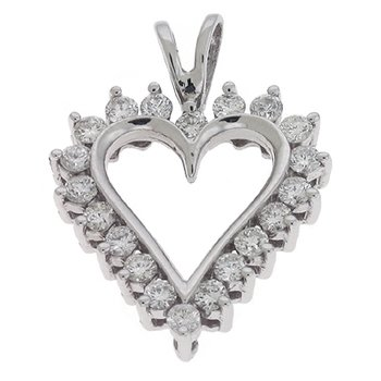 White Gold Heart Pendant