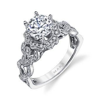 MARS 26593 Diamond Engagement Ring 0.38 Ctw.