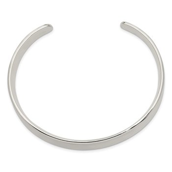 Sterling Silver 10mm Cuff Bangle