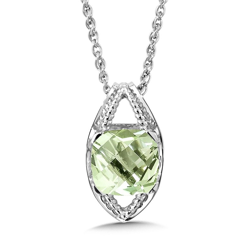 Pattons jewelry colore sg sterling silver green amethyst pendant colore sg sterling silver green amethyst pendant aloadofball Images