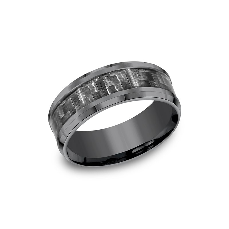 Tantalum Tantalum Comfort-fit Design Wedding Band