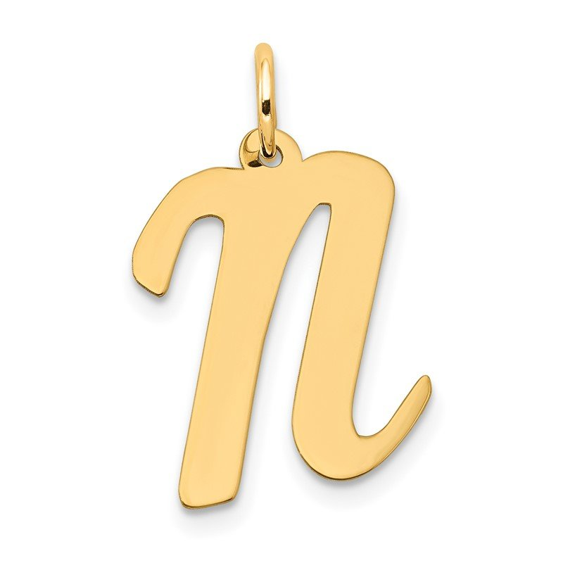 Arizona Diamond Center Collection 14k Large Script Letter N Initial Charm