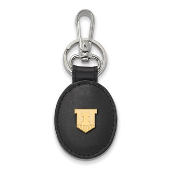 Gold-Plated Sterling Silver University of Illinois NCAA Key Chain