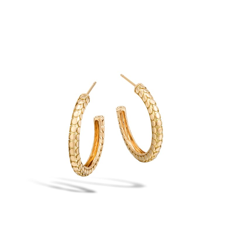 JOHN HARDY Dot Small Hoop Earring in 18K Gold