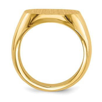 14k 17.0x17.0mm Closed Back Mens Signet Ring