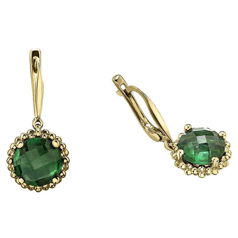 Lasting Treasures™ Green Onyx Earrings