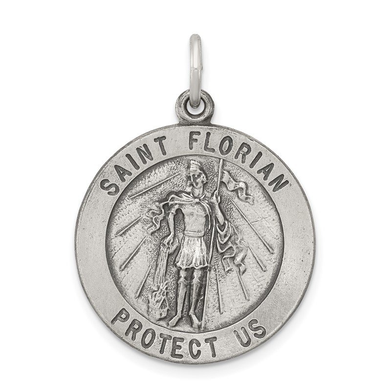 Quality Gold Sterling Silver Saint Florian Medal