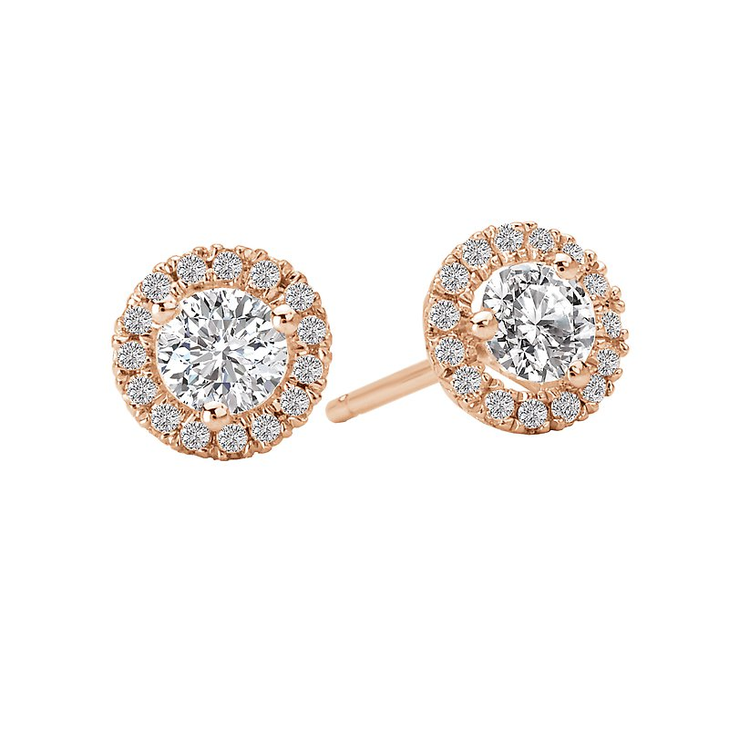 Tesoro Ladies Diamond Halo Earrings