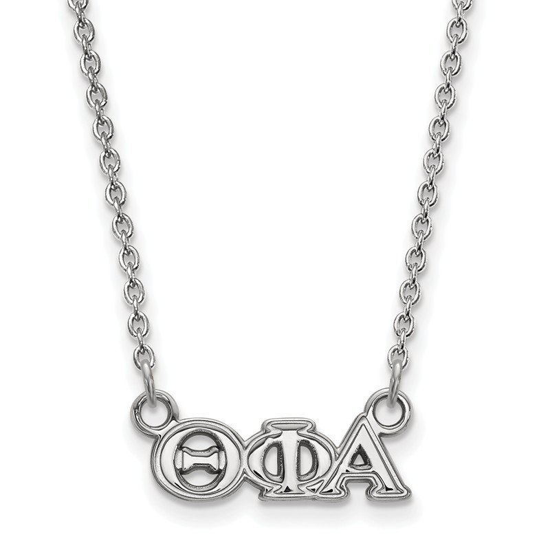 Greek Life Sterling Silver Theta Phi Alpha Greek Life Necklace