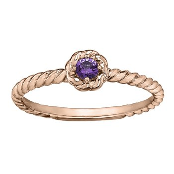 Amethyst Ladies Solitaire