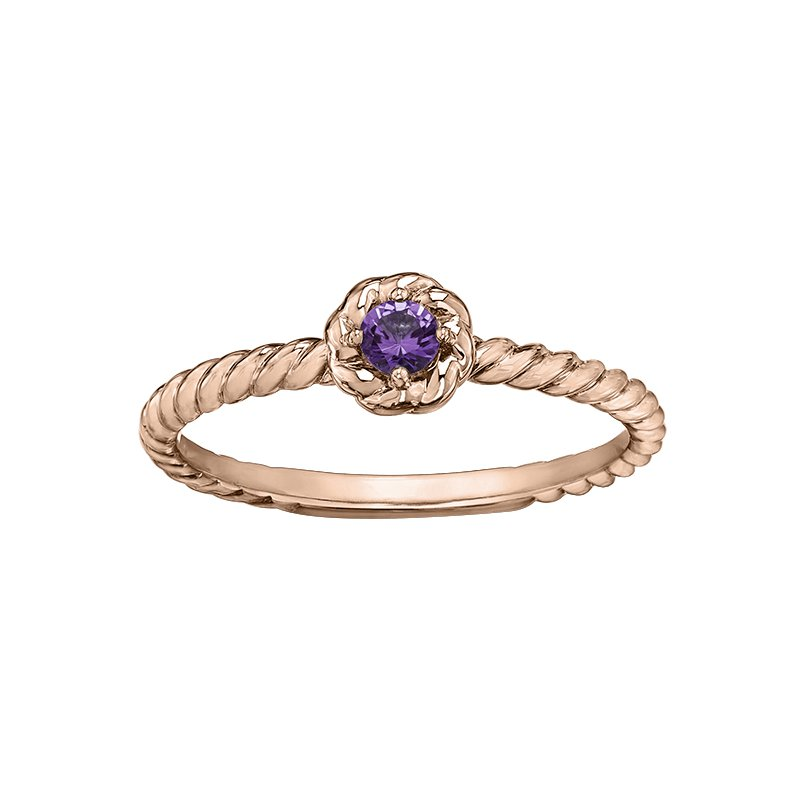 Lasting Treasures™ Amethyst Ladies Solitaire