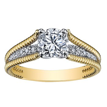 Maple Leaf Diamond Eternal Flames Ladies Engagement Ring