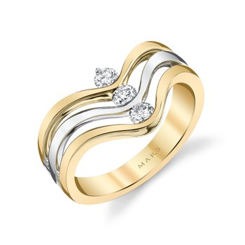 MARS 26856 Fashion Ring, 0.28 Ctw.