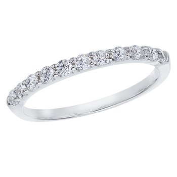 14K White Gold .33 ct Diamond Band Ring