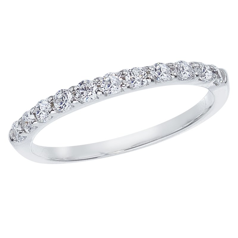 Color Merchants 14K White Gold .33 ct Diamond Band Ring