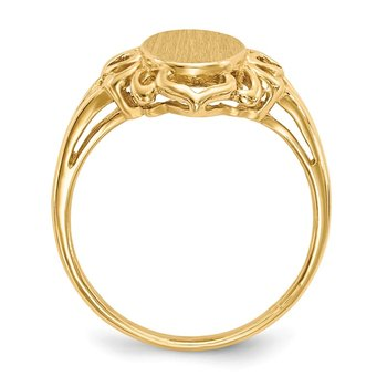 14k 10.5x7.5mm Open Back Signet Ring