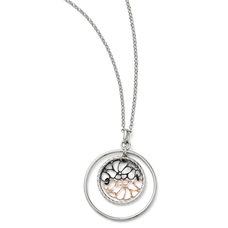 Best Designer Jewelry Leslies Sterling Silver Ruthenium-plated Necklace w// 2in ext