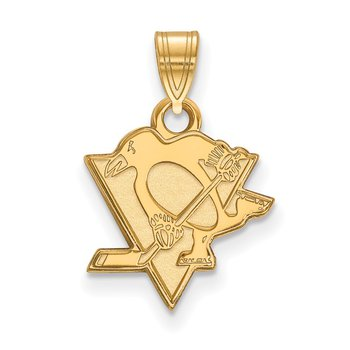 Gold Pittsburgh Penguins NHL Pendant
