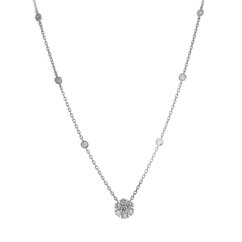C&R Diamonds DIAMOND CLUSTER PENDANT .78 CT TW