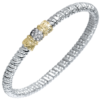 4mm Vahan Bangle with 0.11ctw Diamonds