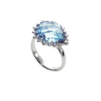 Blue Topaz Pear Shaped Ring