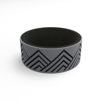 Men's Strata Grey & Black Mountain Silicone Ring