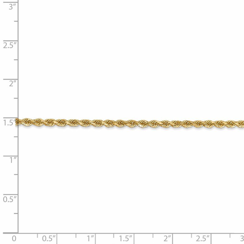 Leslie's Leslie's 14K 2.5mm Diamond-Cut Rope Chain