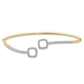 10K 0.25Ct Diamond Bangle