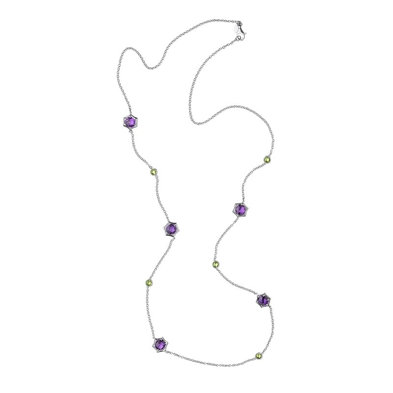 Colore Sg Sterling Silver Amethyst & Peridot Colore by the Yard Necklace