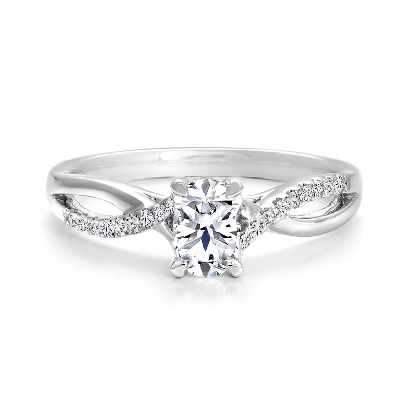 Canadian Rocks Oval Twist Diamond Engagement Ring