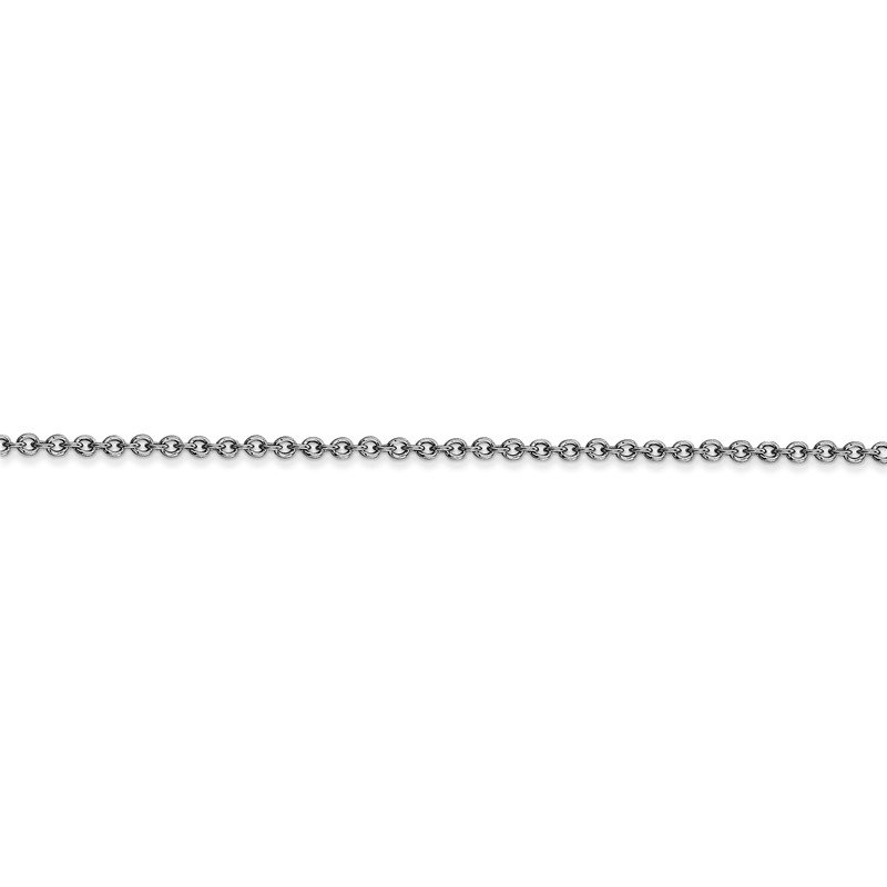 Quality Gold 14k WG 1.6mm Round Open Link Cable Chain