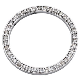 White Gold Circle Diamond Pendant