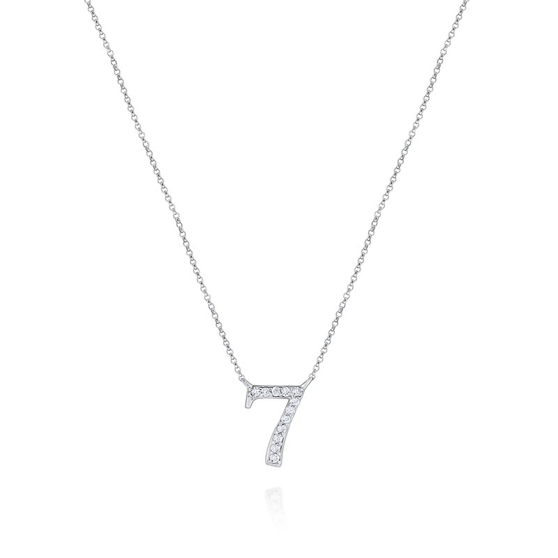 KC Designs 14K Gold and Diamond Number 7 Necklace