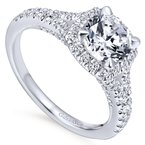 Gabriel Bridal Halo and Split Shank Engagement Ring