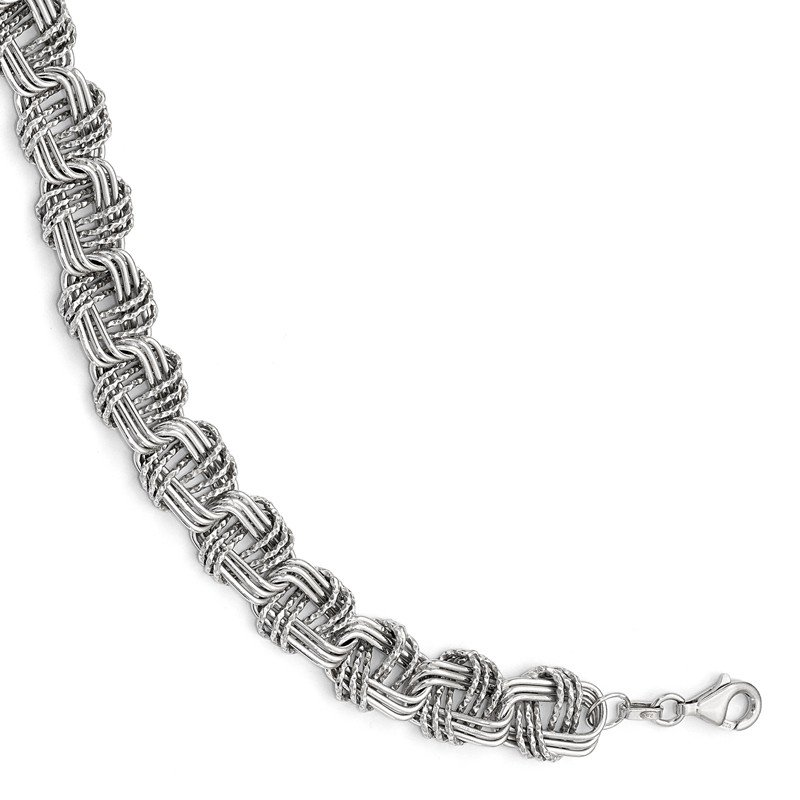 Leslie's Leslie's Sterling Silver Polished & DC w/1in ext. Necklace