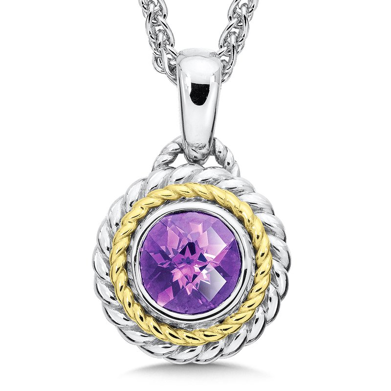 Colore SG Sterling Silver Amethyst Pendant