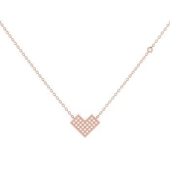 One Way Necklace in 14 KT Rose Gold Vermeil on Sterling Silver