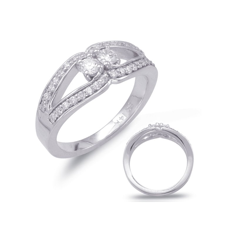 S. Kashi  & Sons White Gold Two Stone Ring