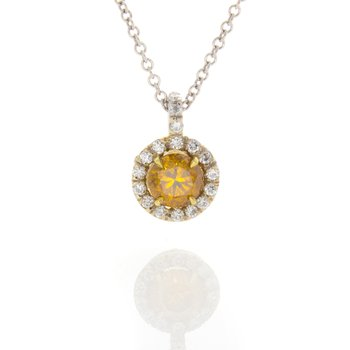 DEEP YELLOW ORANGE BRILLIANT .63 CT