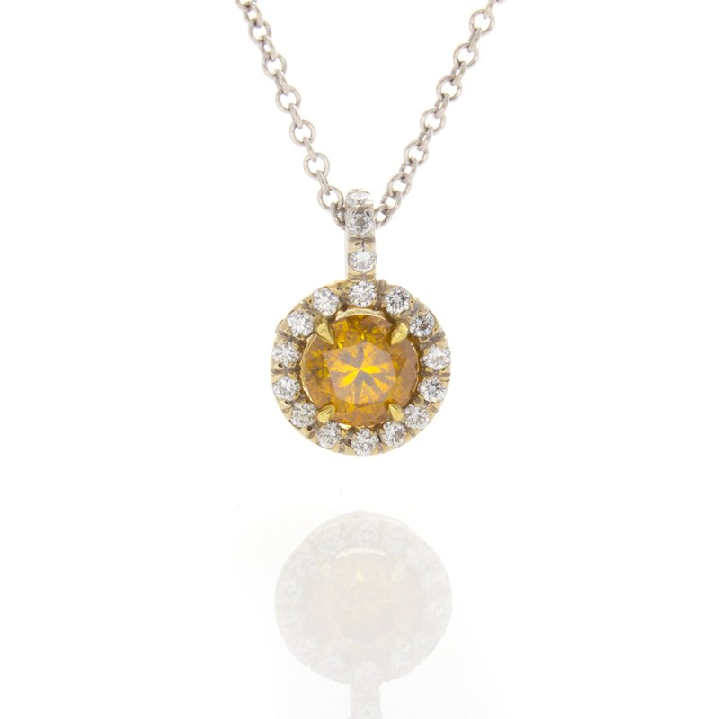 William Levine DEEP YELLOW ORANGE BRILLIANT .63 CT