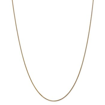 14k 1mm D/C Spiga with Spring Ring Clasp Chain