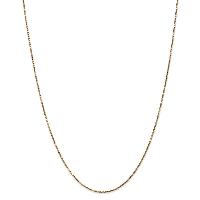 Quality Gold 14k 1mm D/C Spiga with Spring Ring Clasp Chain