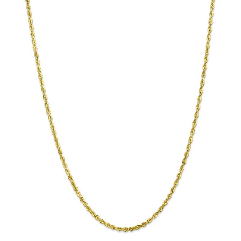 Leslie's Leslie's 10K 2.8mm Diamond-Cut Lightweight Rope Chain