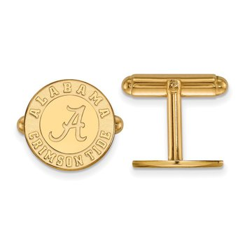 Gold-Plated Sterling Silver University of Alabama NCAA Cuff Links