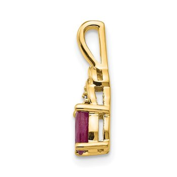 14k Ruby and Diamond Pendant