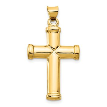 14k Polished Stamping Cross Pendant