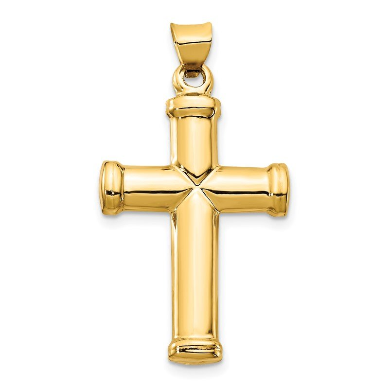 Quality Gold 14k Polished Stamping Cross Pendant